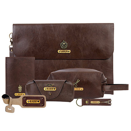 Techie Traveler Hamper: Leather Gifts