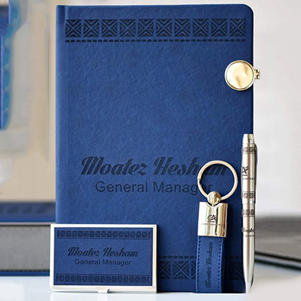 Personalised Gift Set Blue: Gifts for Boss