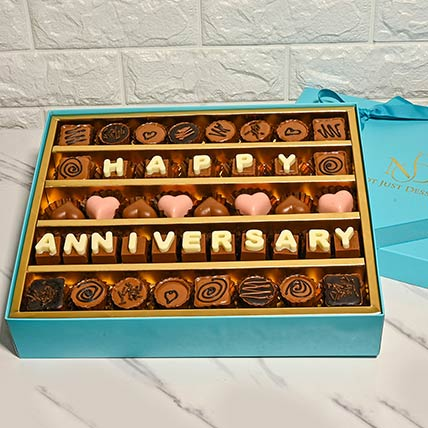 Happy Anniversary Assorted Box Of Chocolates: Best Chocolate in Dubai