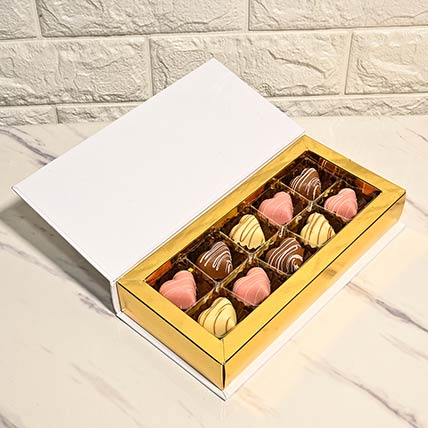 Personalized Box of Heart Shaped Chocolate Treats:  Personalised Chocolates