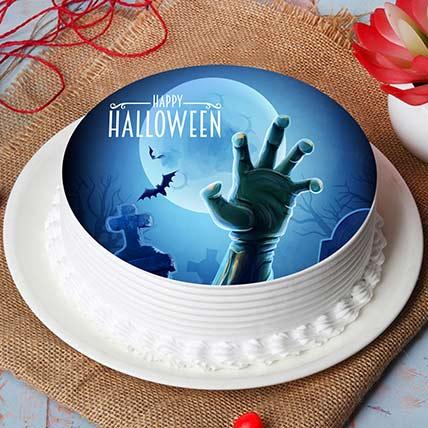 Graveyard Claw Photo Cake: Halloween Cakes