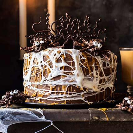 Spider Web Chocolate Cake: Halloween Cakes
