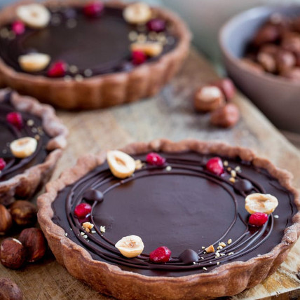 Belgian Chocolate and Hazelnut Tart: Thanksgiving Gifts