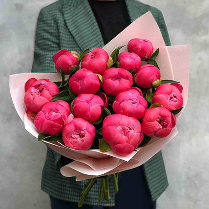 Young Love Peony Bouquet: Thank You Flowers