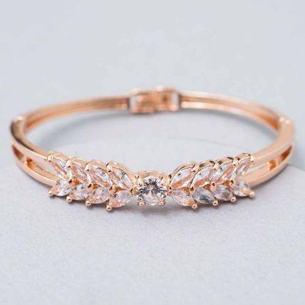 Rose Gold White Enamel Bracelet: New Arrival Gifts