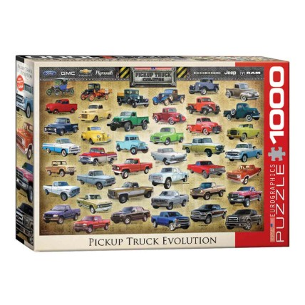 1000 Pcs Puzzle Pickup Truck Evolution: Buy Puzzle for Kids