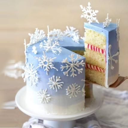 Snowflake Vanilla Cake: Christmas Cake