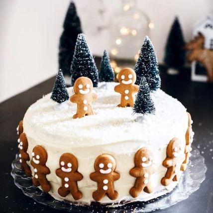 Jolly Christmas Gingerman Cake: New Year Cake