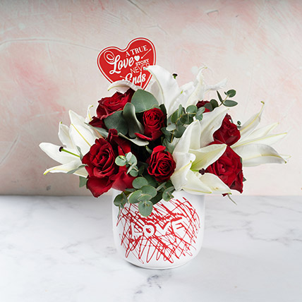 Love U Now and Forever: Valentines Day Flowers