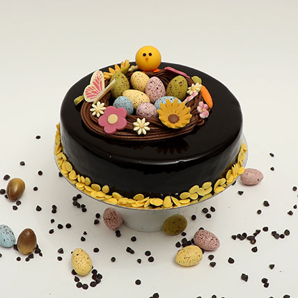 Easter Special Irresistible Chocolate Truffle Cake: Easter Cakes