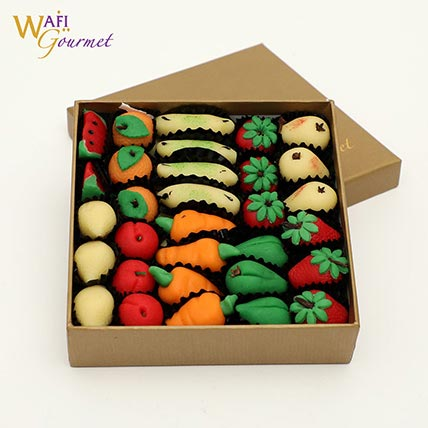 Box of Marzipan Fruits Shaped Sweets 825g: Ramadan Sweets