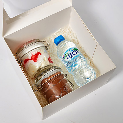 Jar Cakes and Water Bottle Box: