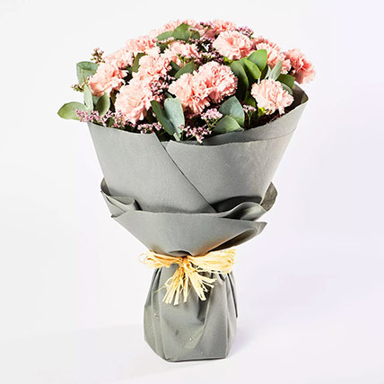 Peaceful Pink Carnations Bouquet: New Arrival Gifts