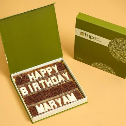 Customized Happy Birthday Chocolate: Gifts