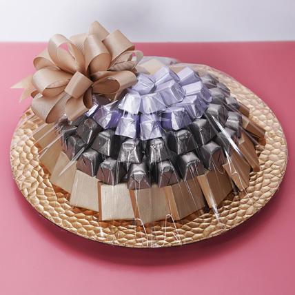 1 Kg Belgium Chocolate Tray : Chocolates For Anniversary