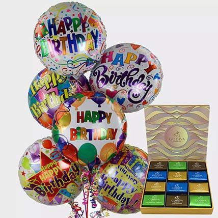 Birthday Balloons and Godiva Chocolates: Chocolates in Ajman