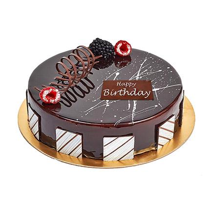 Half Kg Truffle Cake For Birthday: Happy Birthday Cakes