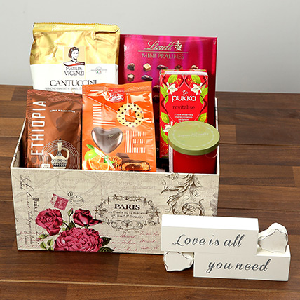 Valentine Special Chocolate and Coffee Hamper: Valentine Gift Hampers for Wife