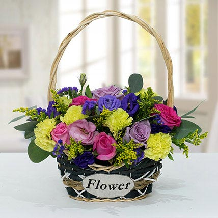 Vibrant Flower Basket: Basket Arrangements