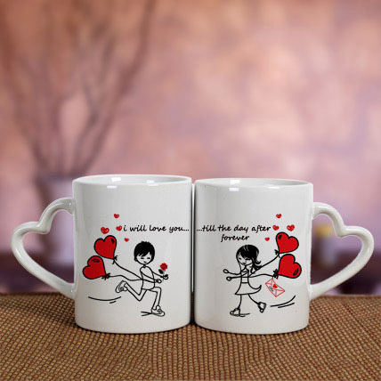 White Love Mugs: Valentines Day Mugs