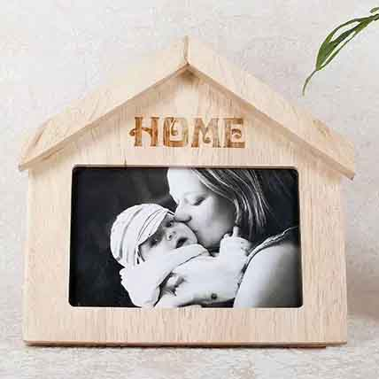 Wooden Home Shaped Frame: Personalised Gifts to Umm Al Quwain