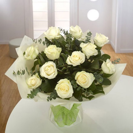 White Roses Bouquet LB: Send Gifts to Lebanon