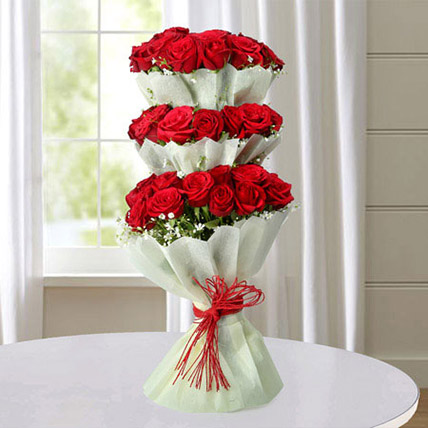 Multi Storied Roses QT: Gift Delivery Qatar
