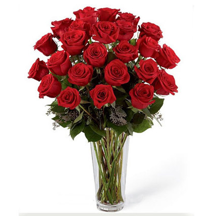 24 Red Roses Arrangement QT: Gifts to Doha