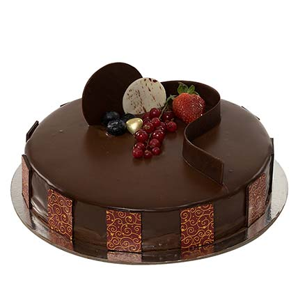 1kg Chocolate Truffle Cake QT: Cake Delivery in Qatar