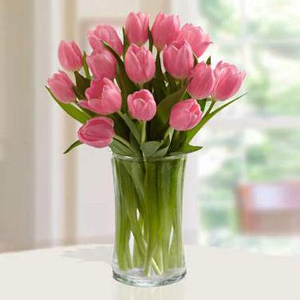 Pink Tulips Arrangement SA: Send Gifts to Saudi Arabia