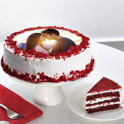 Velvety Photo Cake: Gift Delivery Jeddah