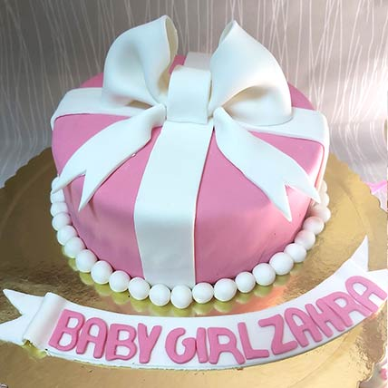 Baby Girl Gift Chocolate Cream Cake: Cakes To Dammam