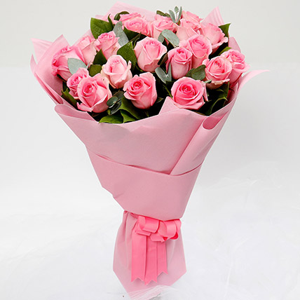 Bouquet Of 20 Pink Roses: Flowers To Taif