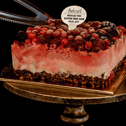 5in Square Mixed Berry Nutty Ice Cream Cake: Send Gifts to Singapore
