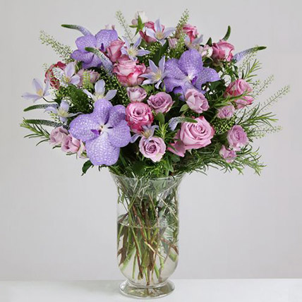 Willd Lilac Vase Arrangement: Send Gifts to UK