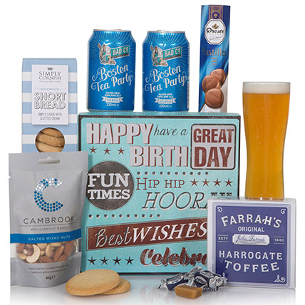 Delightful Snack Birthday Gift Box: Send Gifts to UK