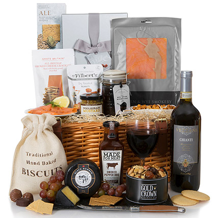 Grand Wine And Snack Hamper: Send Gifts to UK