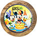 Mickey and Minnie Blackforest Cake 1 Kg Eggless