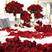 Dreamy 300 Red Roses and Candle Decor