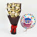 Teddy Chocolate Bouquet & Birthday Balloon