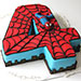 Fourth Year Spiderman Chocolate Cake