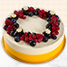 Yummy Vanilla Berry Delight Cake- 1.5 Kg