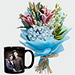 Oriental Lilies Bouquet And Personalised Mug